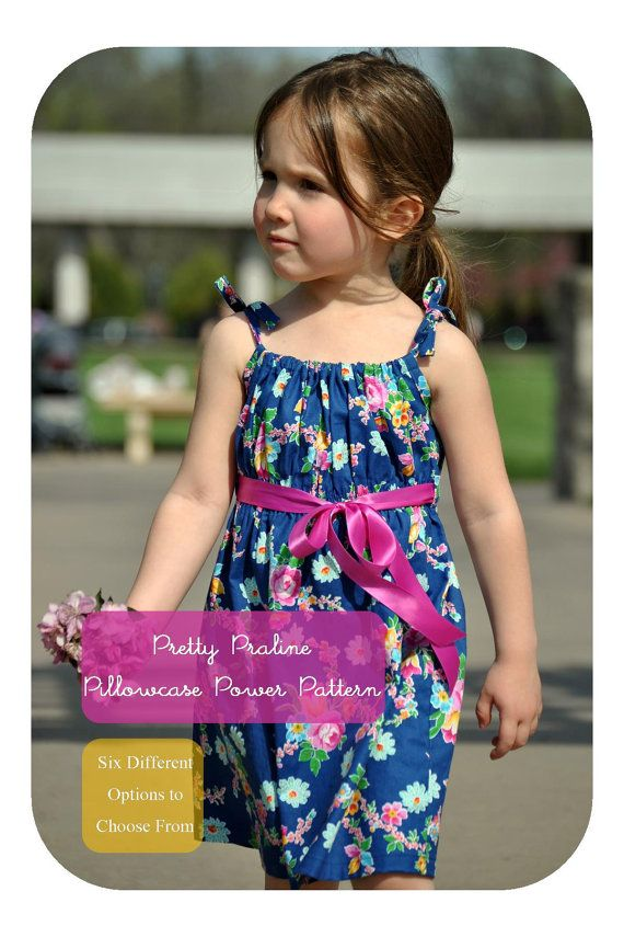 Sizes to Size 10 Wow - think of this pattern as a pillowcase dress Power Pattern! The Pretty Praline pattern lets you create up to six different looks with ...