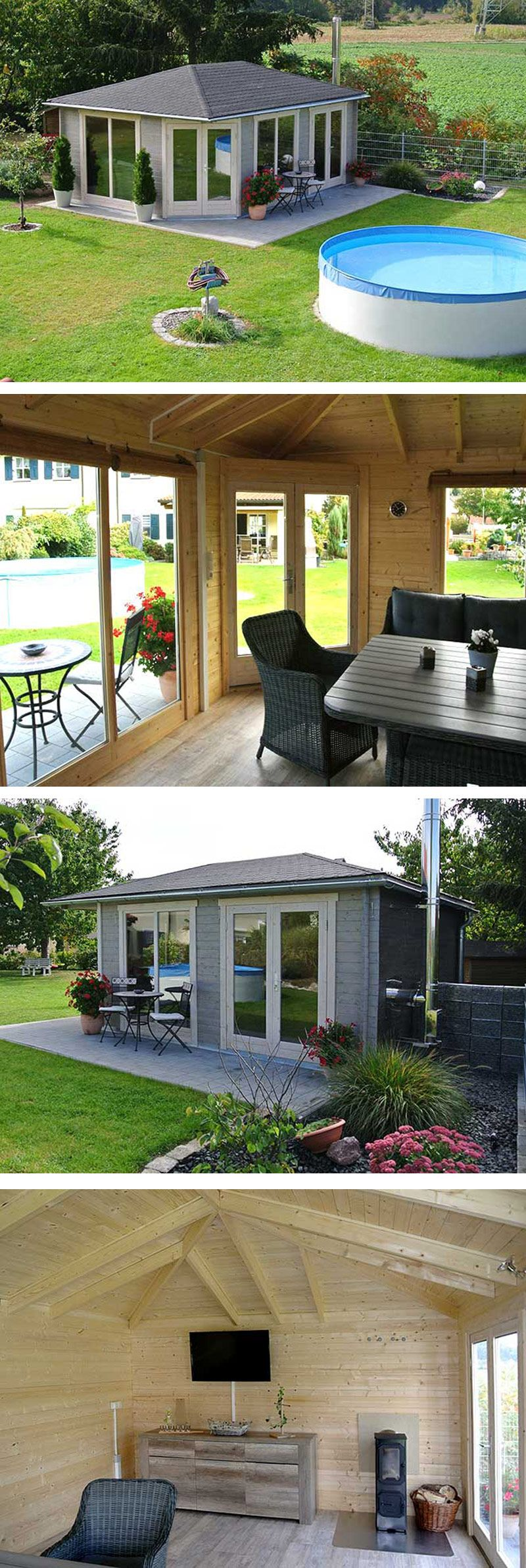 5 eck gartenhaus julia 40 aufbau und einrichtung haus ideen pinterest gartenhaus garten. Black Bedroom Furniture Sets. Home Design Ideas