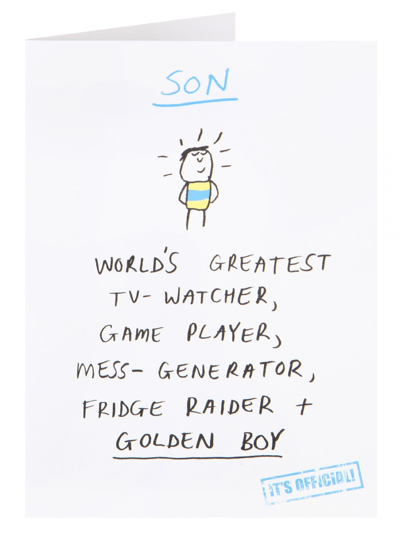 Worlds Greatest Son Birthday Card General Birthday Birthday