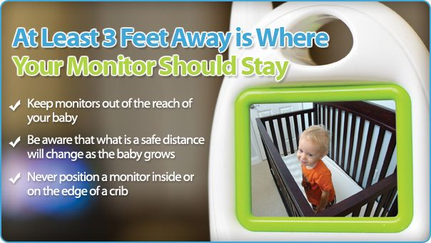 please do not place your baby monitor in or near a crib including wall