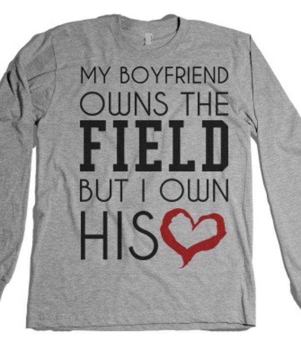 Football Baseball Girlfriend Shirt Unisex Heather Grey T Shirt