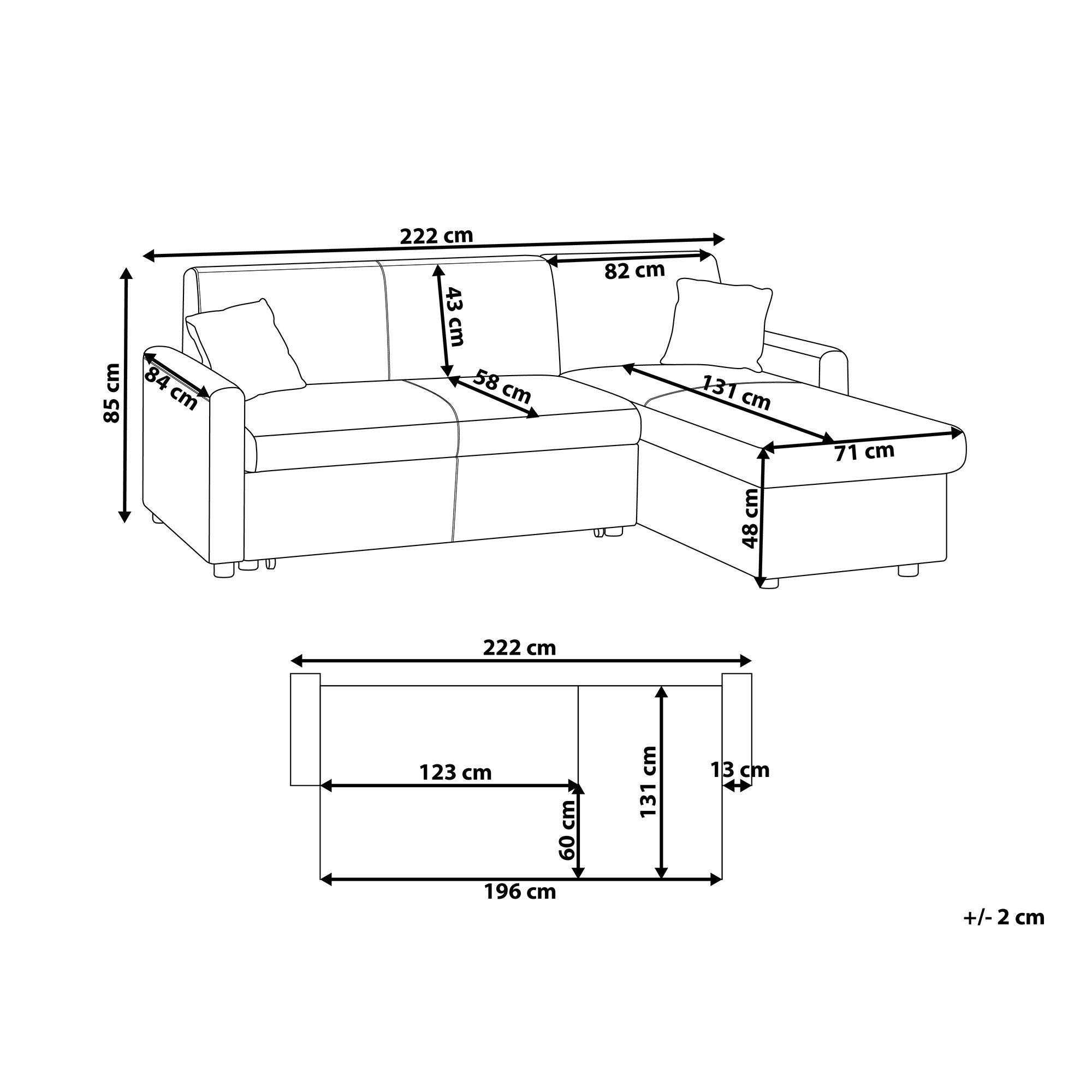 Elegantes Linksseitiges Ecksofa In Lederoptik Mit Schlaffunktion In 2020 Floor Plans