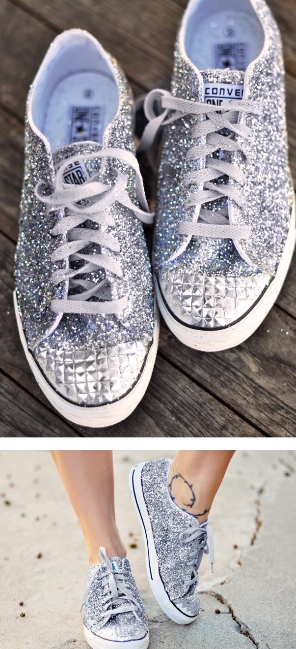 Glitter Sneaker Diy Miu Miu Inspired Love Maegan Glitter