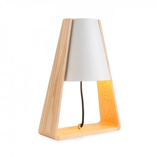 Bell Bottom Table Lamp In Grey With Vintage Yellow Heals Shade