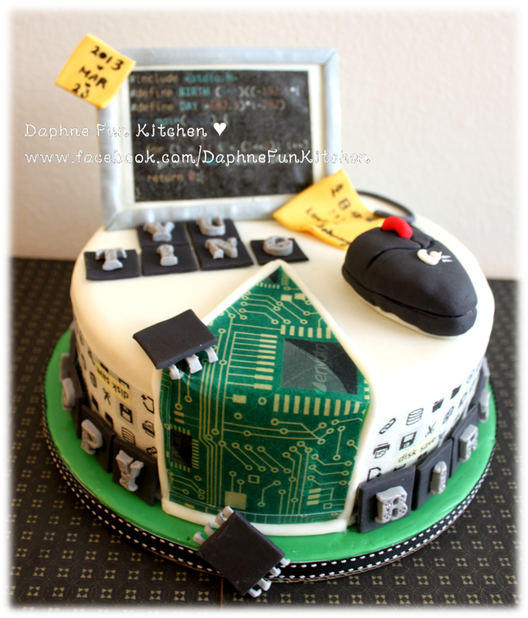 Super Computer Science Theme Birthday Cake Computer Cake Engineering Funny Birthday Cards Online Barepcheapnameinfo
