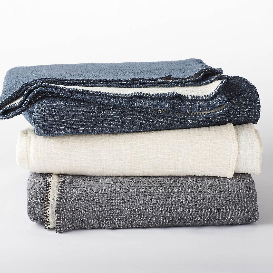 Coyuchi Cozy Cotton Blanket And Throw The Company Store Organic Blankets Cotton Blankets Organic Cotton Blanket