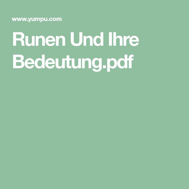 runen-und-ihre-bedeutungpdf | Germanische runen, Runen ...