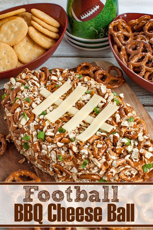 Football BBQ Cheese Ball - Easy Game Day Snack