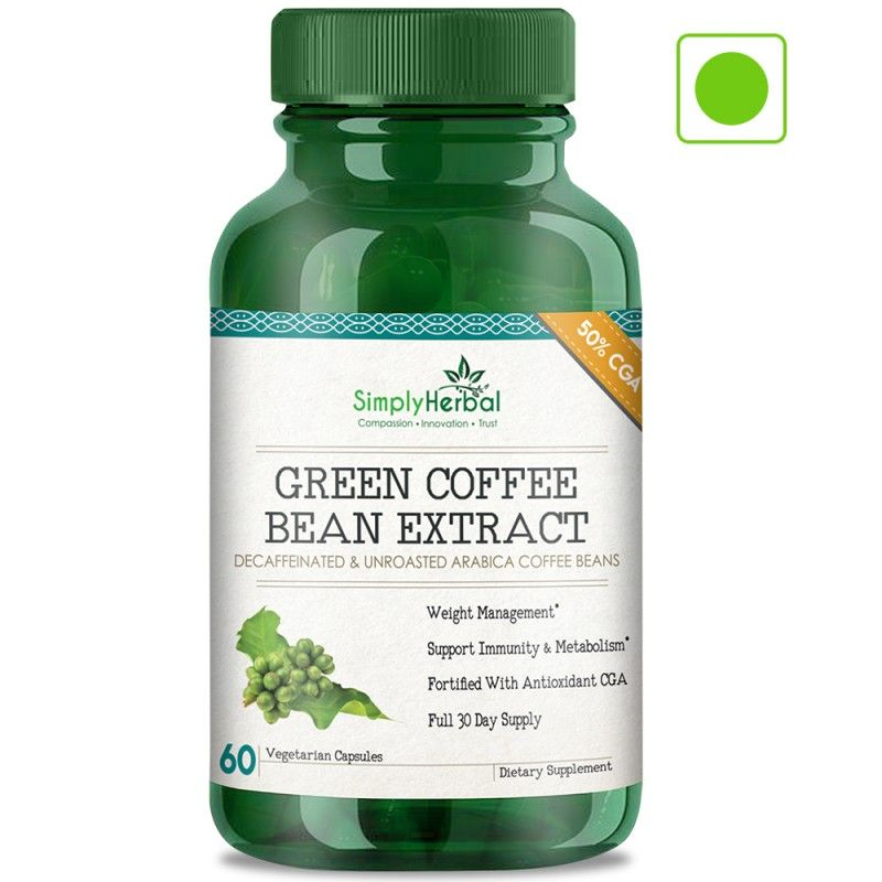 Simply Herbal Green Coffee Bean Extract Weight Control Extra