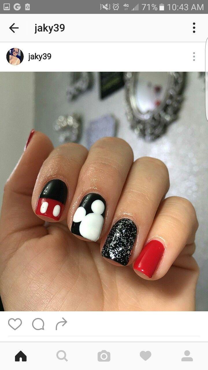 Mickey mouse | nails | Pinterest | Uñas disney, Diseños de arte en ...