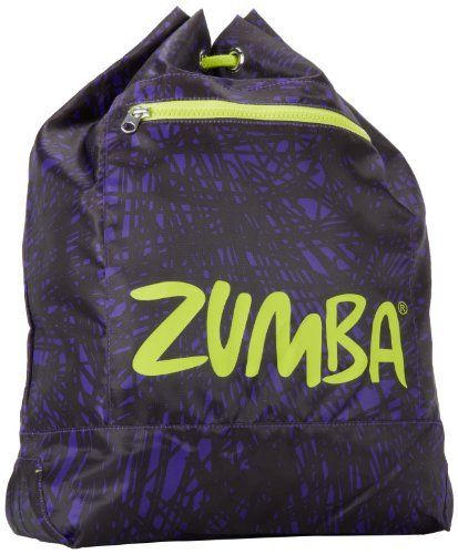 Zumba Fitness LLC Scribble Knapsack, Liberty, One Size by Zumba Fitness. $15.49. 100% Nylon/Polyester. New scribble print complements draw cord knapsack. Choose between two great colors with signature Zumba logo. Complete with a sleek zipper pouch to keep your personal items easy to locate. This new drawstring backpack is perfect for storing your gear and features a separate zippered compartment for at-your-finger access to your must-haves.