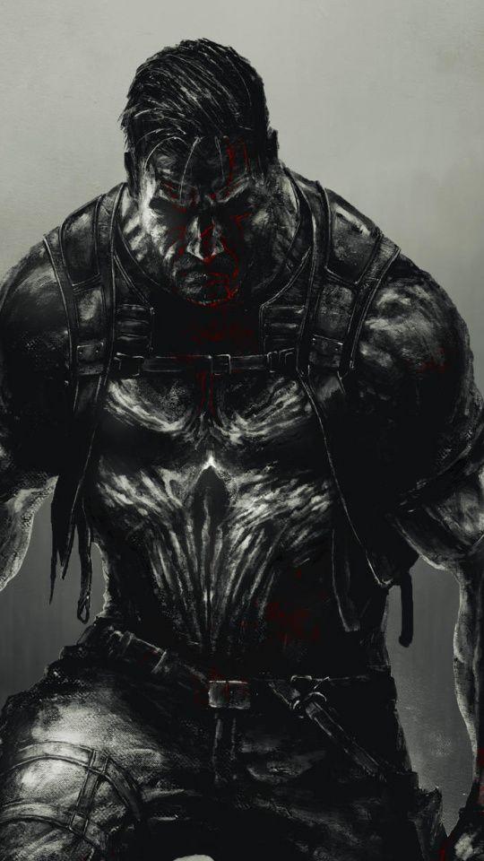 Punisher, marvel, superhero, dark, art, 2019, 540x960 ...