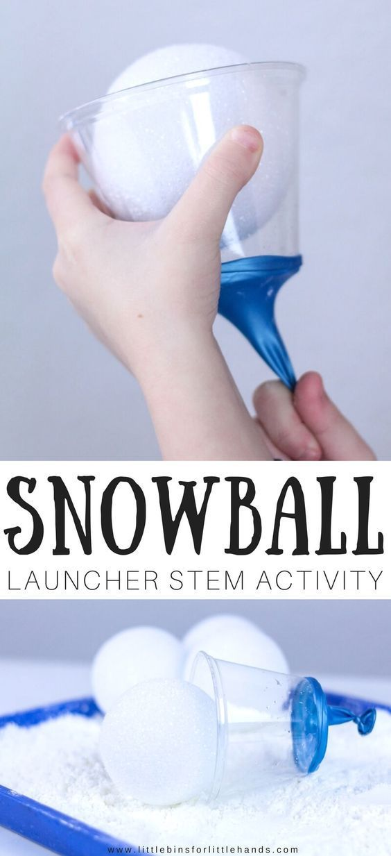Make Snowball Launcher Winter STEM Activity for Kids is part of Kids Crafts Activities Hands - Try our easy to make snowball launcher winter STEM activity for an awesome, indoor winter STEM activity this season  Fun physics, engineering, and play idea