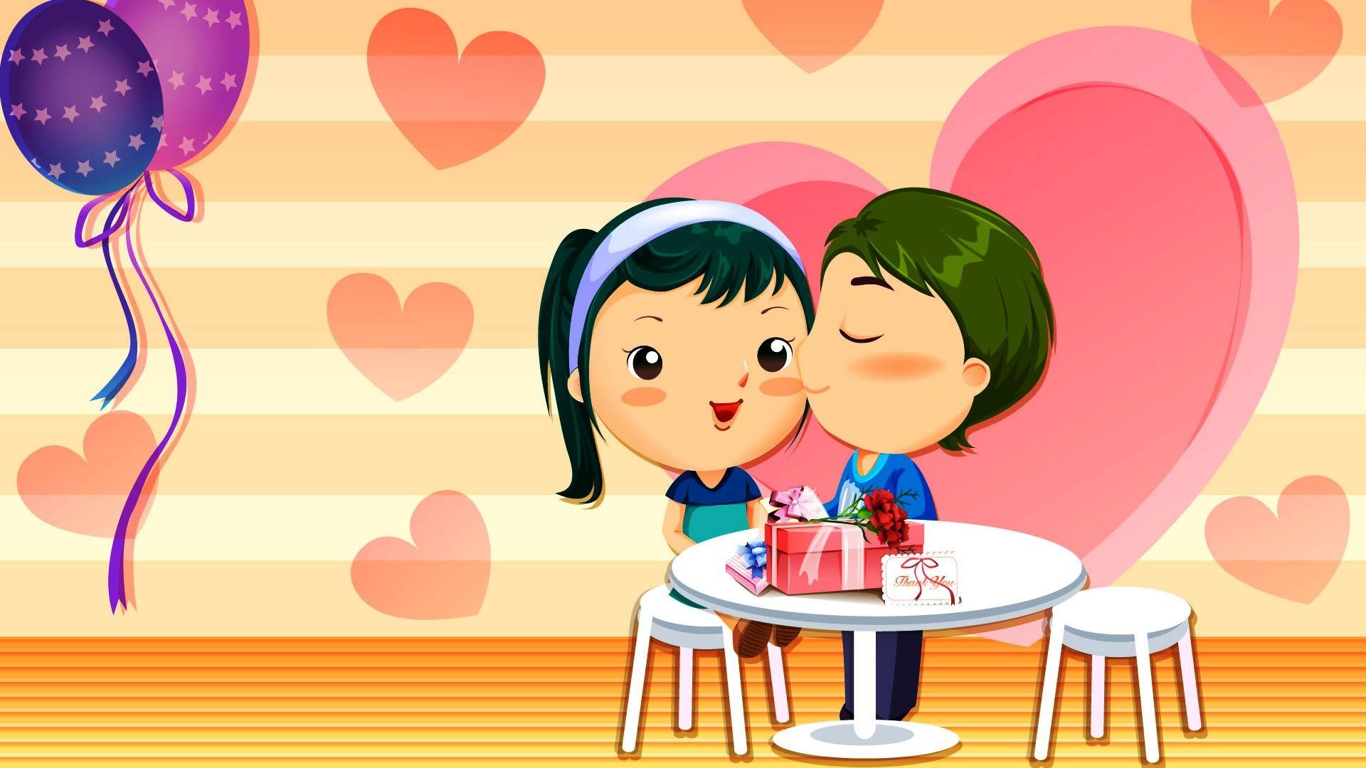 korean cartoon wallpaper | Cartoon wallpaper, Cute couple ...