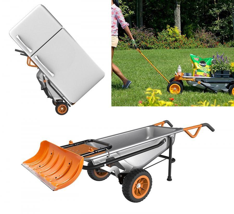 Worx Aerocart 8 In 1 Multi Function Wheelbarrow Yard Cart