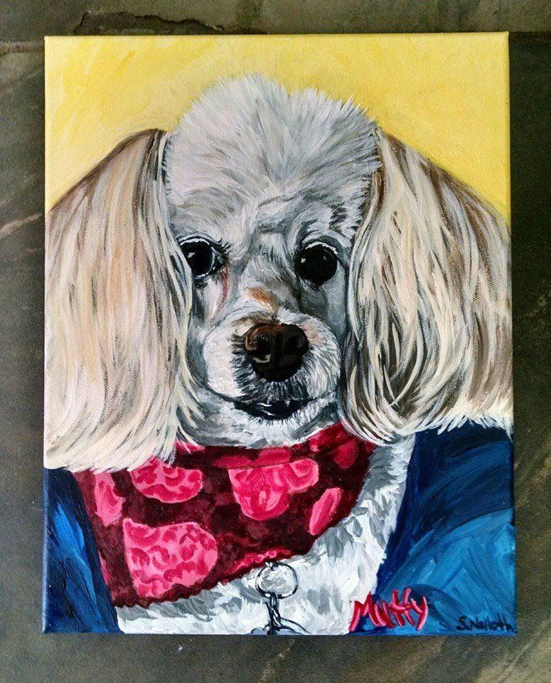 Pet portrait of Muffy the dog by artist Samantha Nolloth
