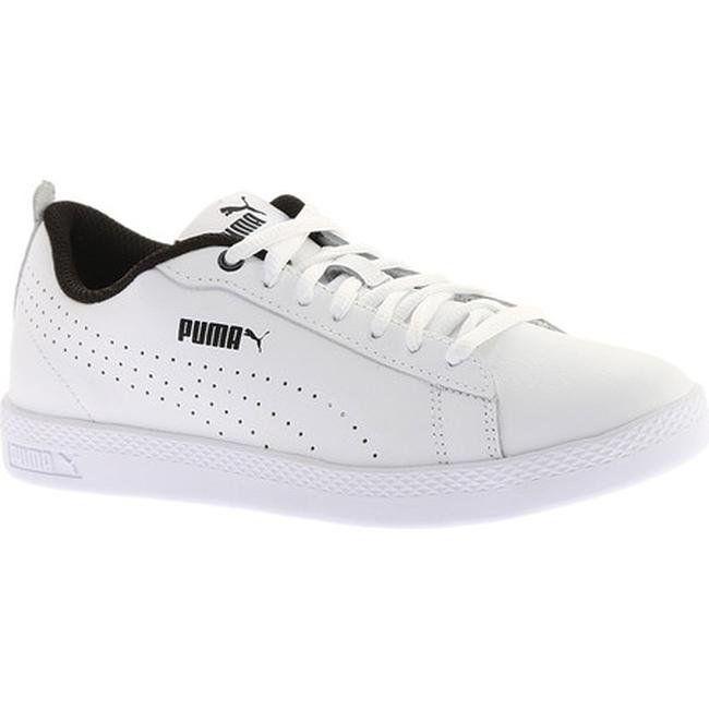 Puma Women s Smash V2 L Perf Sneaker Puma White Puma White (us women s 7.5  (wms 7.5) m (medium)) 8582cbeb1