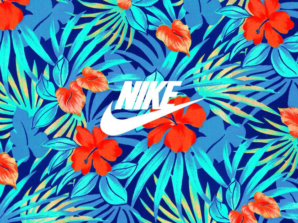 Nike Flower Wallpaper Print