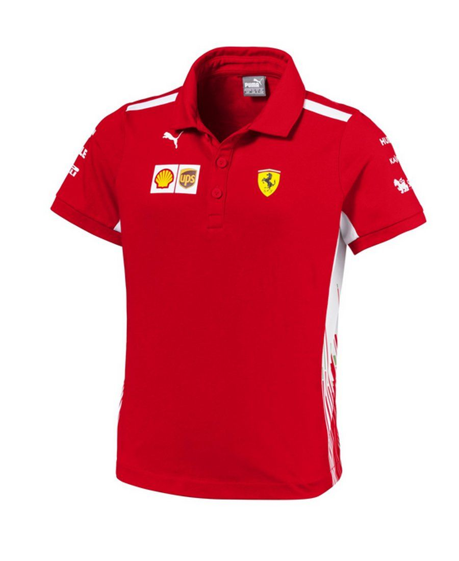 d42f03e4efb Scuderia Ferrari Kids Replica Team Polo - 2018