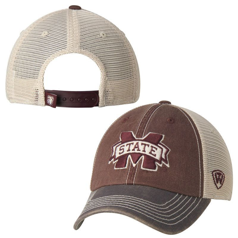 official photos 0dbb4 0e740 Mississippi State Bulldogs Top of the World Offroad Trucker Adjustable Hat  - Maroon
