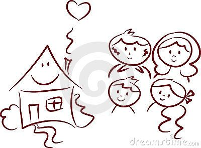 Happy Home And Happy Family Family Drawing Cute Cartoon Drawings Cartoon Drawings