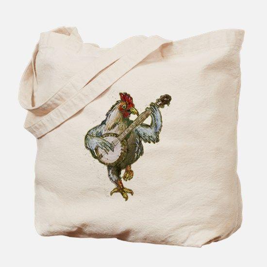 Banjo Chicken Tote Bag for