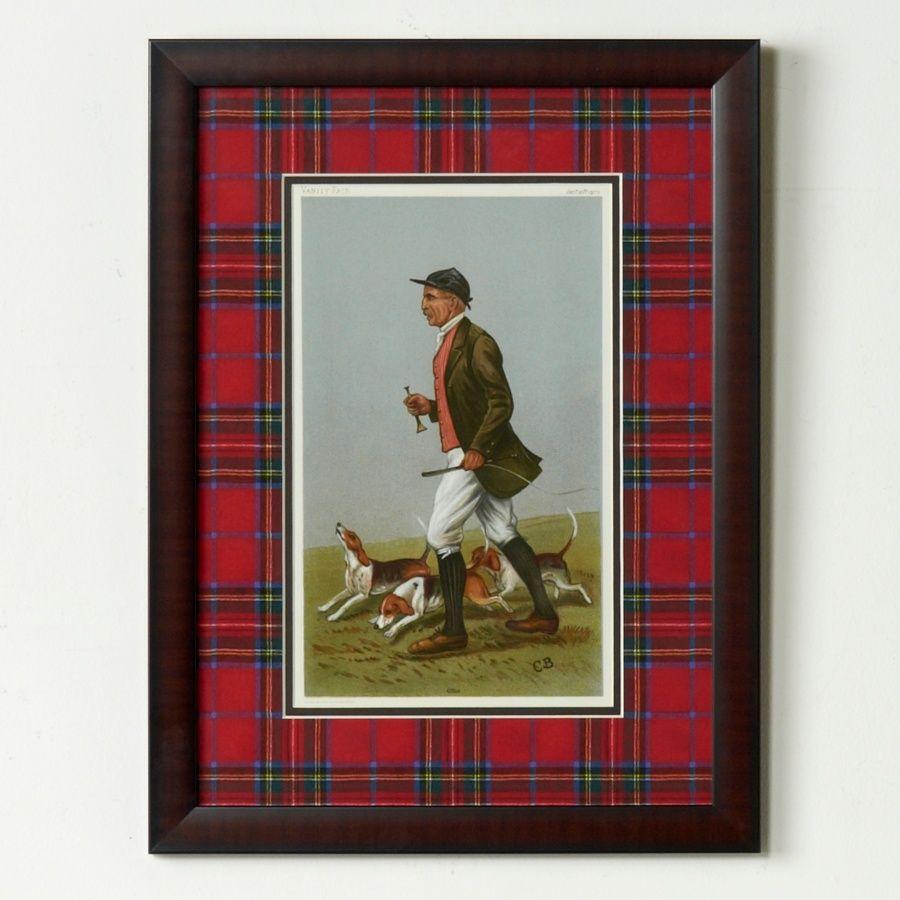 Jeffrey Banks Otho Framed Giclée Print with Royal Stewart