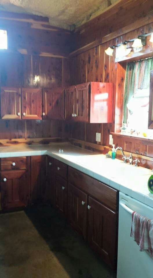 Red Cedar Kitchen Cabinets Rustic Furniture At Modern Frontier Log