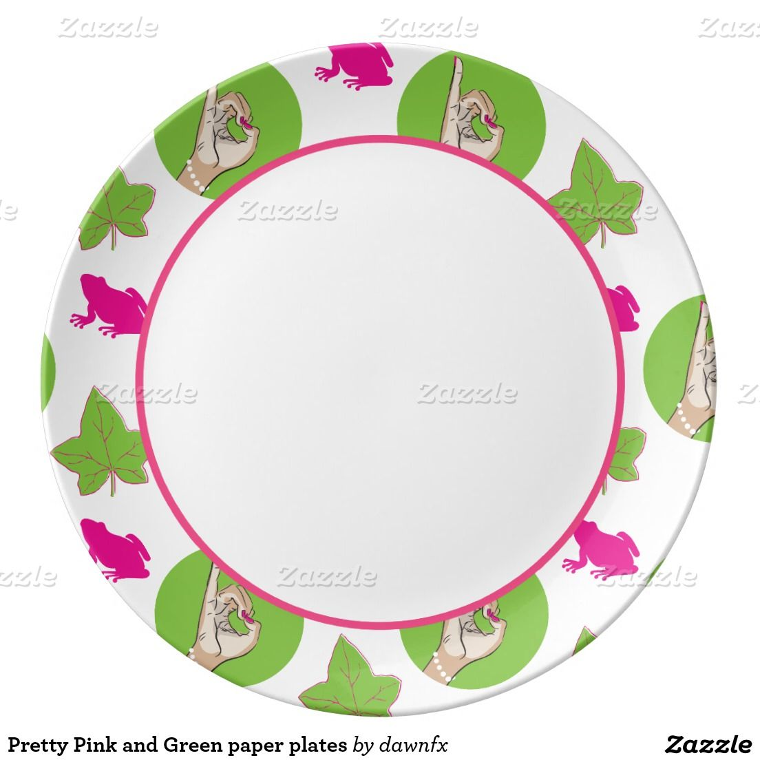 Pretty Pink and Green paper plates Porcelain Plate  sc 1 st  Pinterest & Pretty Pink and green paper plates | Green paper Alpha kappa alpha ...