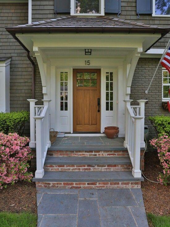 Brick Bluestone Stoop Ideas Front Porch Steps Exterior Stairs
