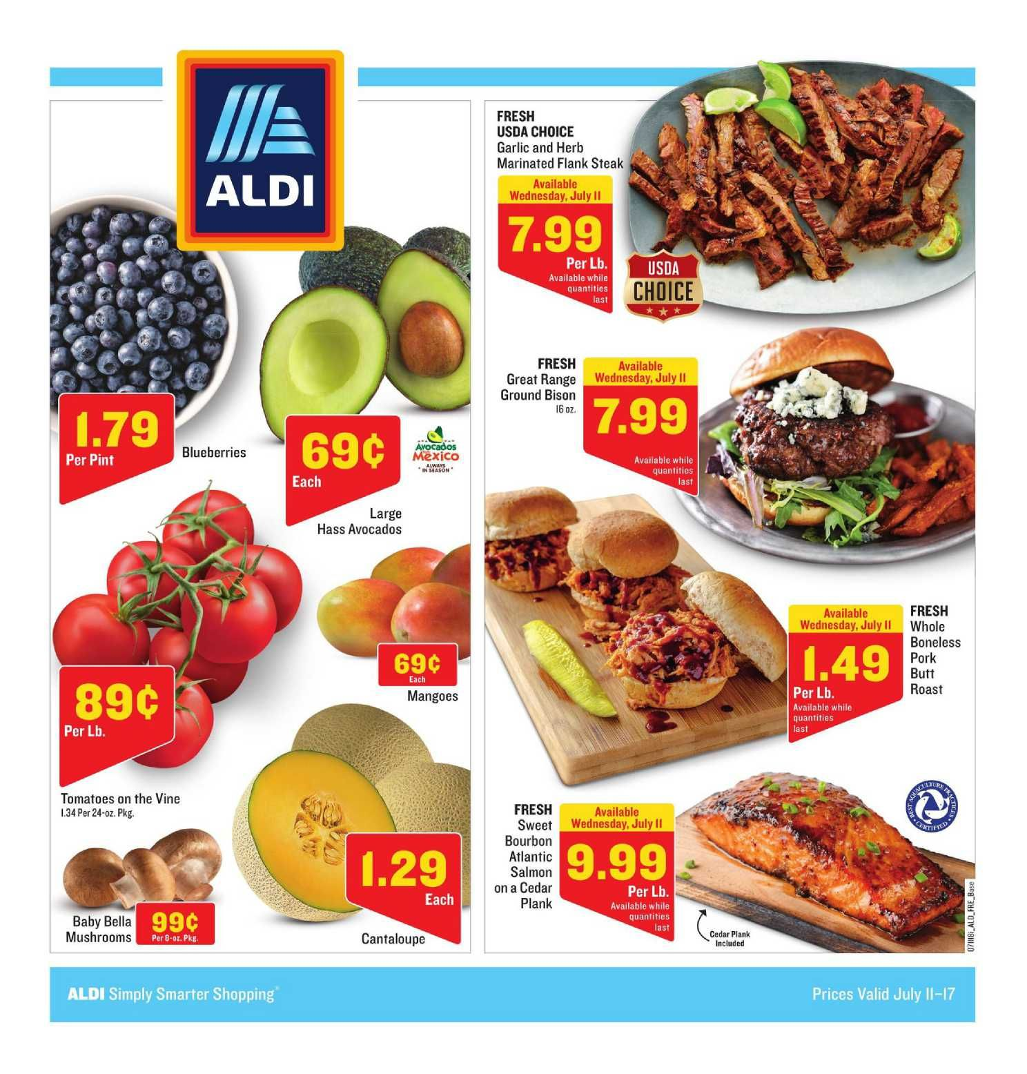 Aldi Weekly Ad Flyer September 25 October 1 2019 Weeklyad123 Com Weekly Ad Circular Grocery Stores Bakery Menu Fresh Meat Aldi