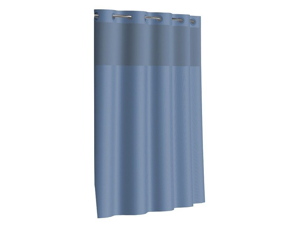The Dobby Textured Hookless Shower Curtain Offers A Clean Look