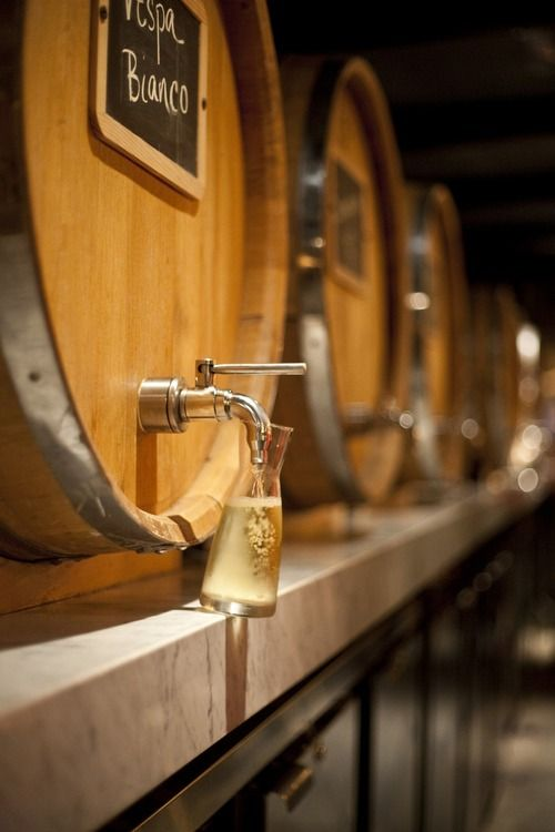 White wine barrel