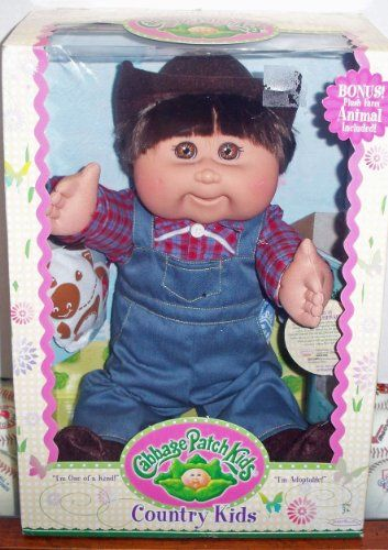 Cabbage Patch Kids Country Kids Caucasian Boy By Jakks Pacific This Is An Amazon Affiliate Link Want Cabbage Patch Kids Country Kids Cabbage Patch Dolls