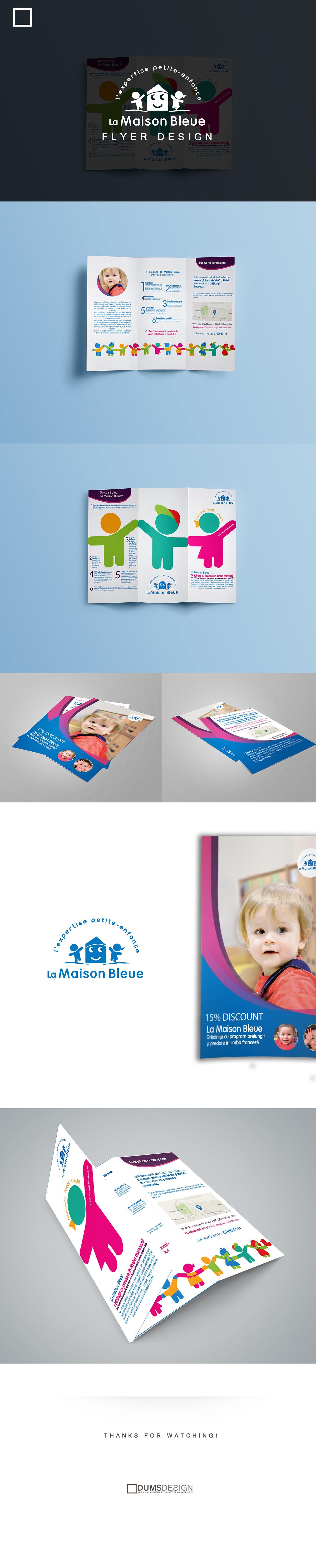La Maison Bleue - Flyer Design on Behance
