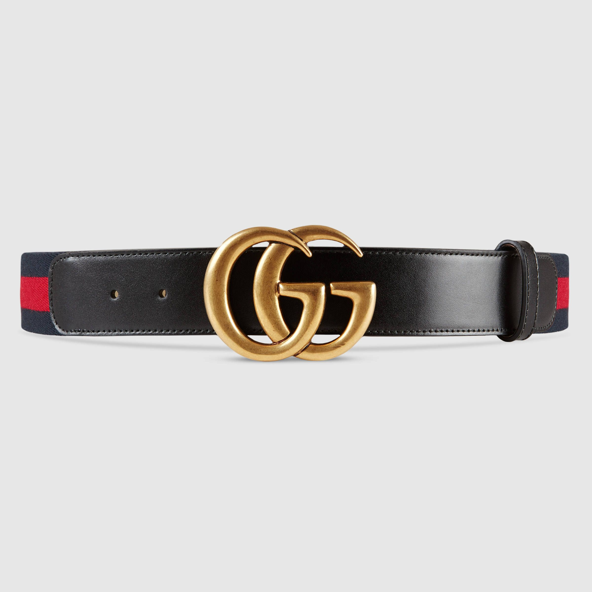 22b750f2200 Nylon Web belt with double G buckle - Gucci Men s Casual 409416H17WT8632