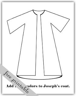 What Youll Need Scriptures GAK Joseph Is Sold By His Brothers Printed Coloring Page And Tools OR Blank Coat Pa