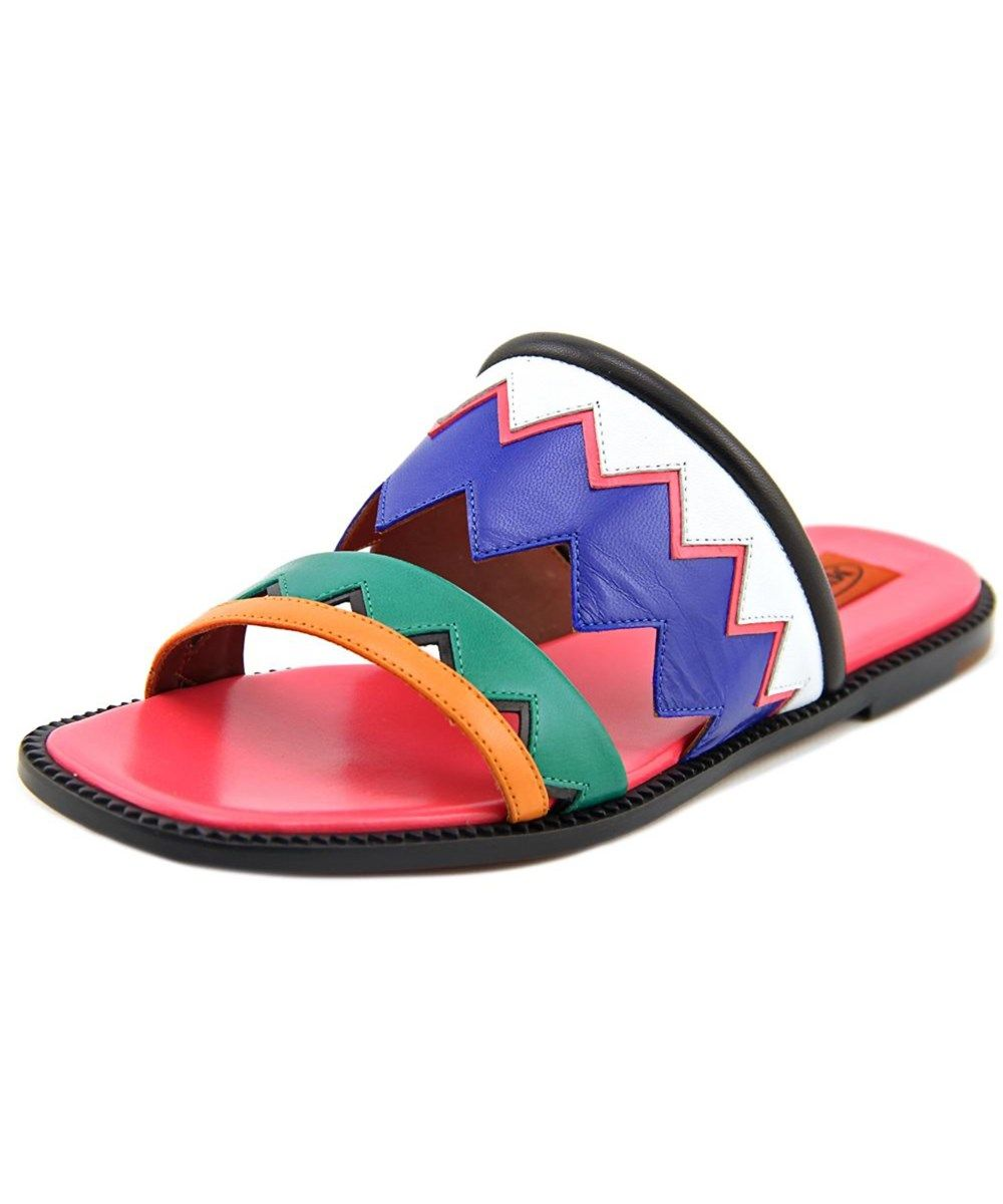 ddf6e80b292a8 MISSONI Missoni Ziggy Women Open Toe Leather Multi Color Slides Sandal'. # missoni #shoes #sandals