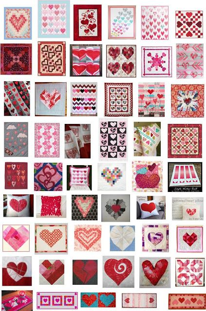 Free Pattern Day Hearts And Valentines 2015 Heart Quilt Pattern Heart Quilt Sampler Quilts