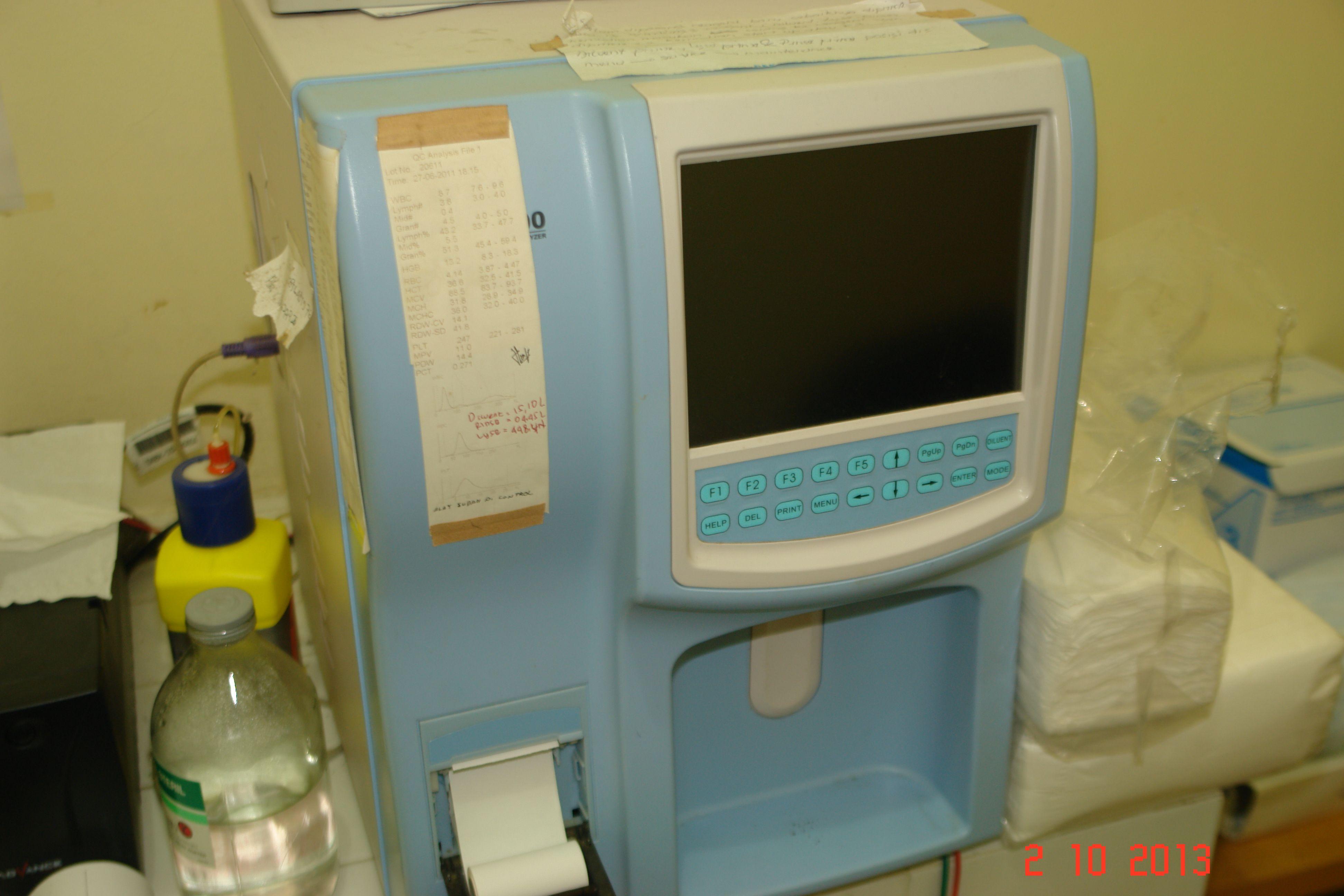 New ! Hematology Analyzer Mindray - China Model : BC - 2300