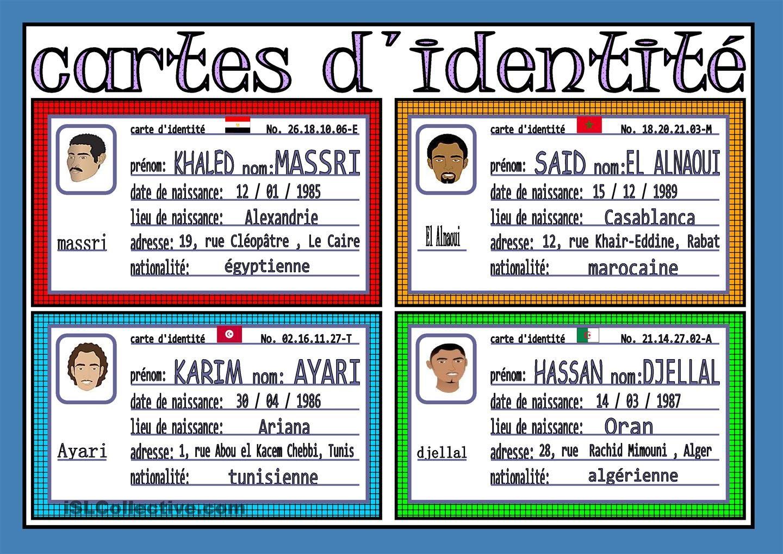 Cartes D Identite 2 Carte D Identite Fle Et Identite