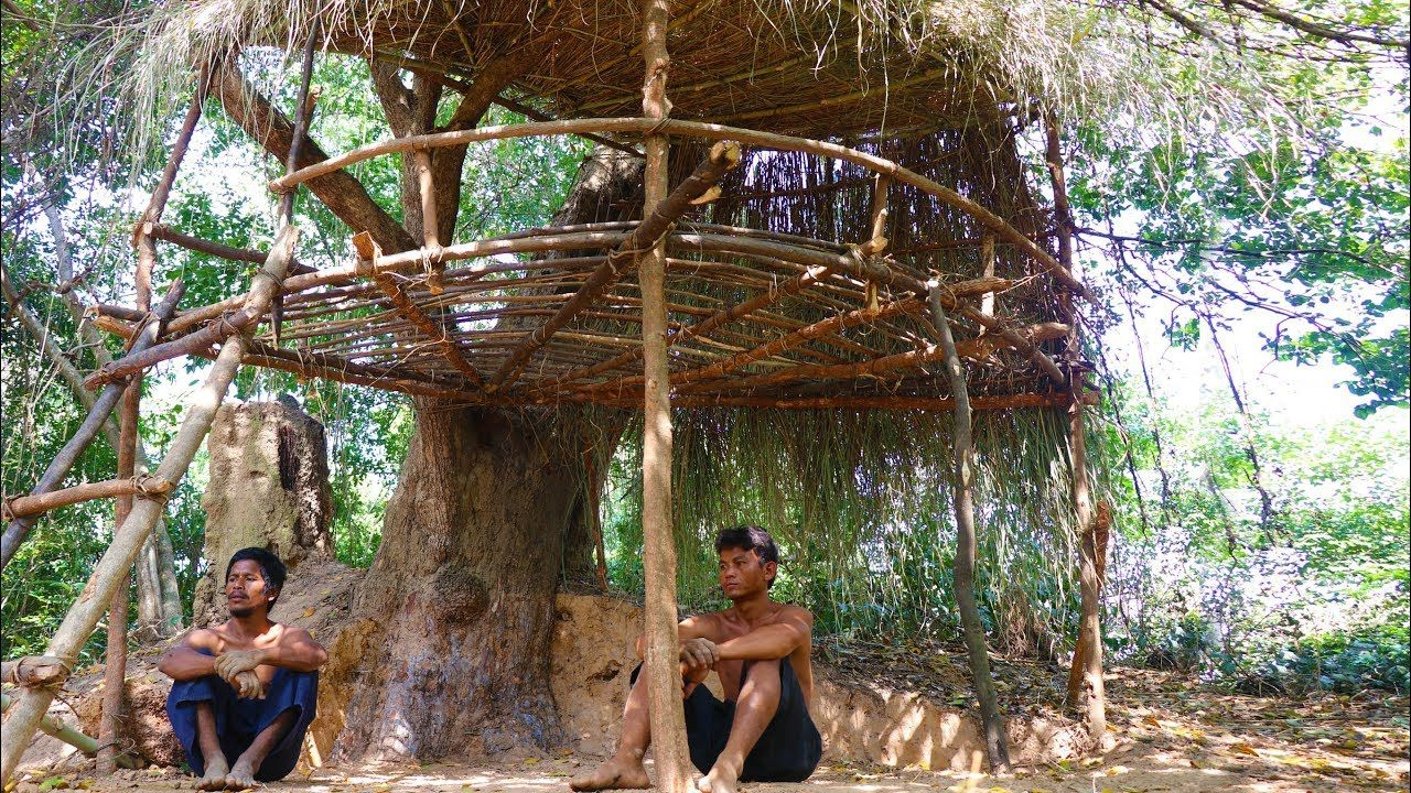Primitive Tool Build Primitive Tree House In Forest Jungle