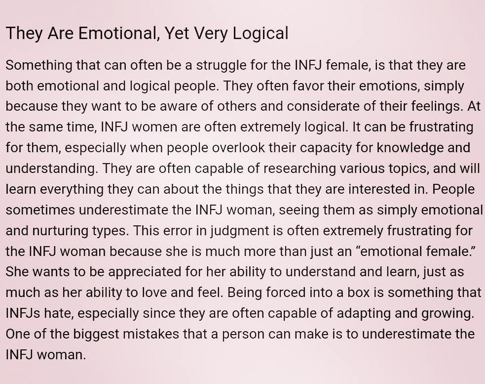Infj female characteristics