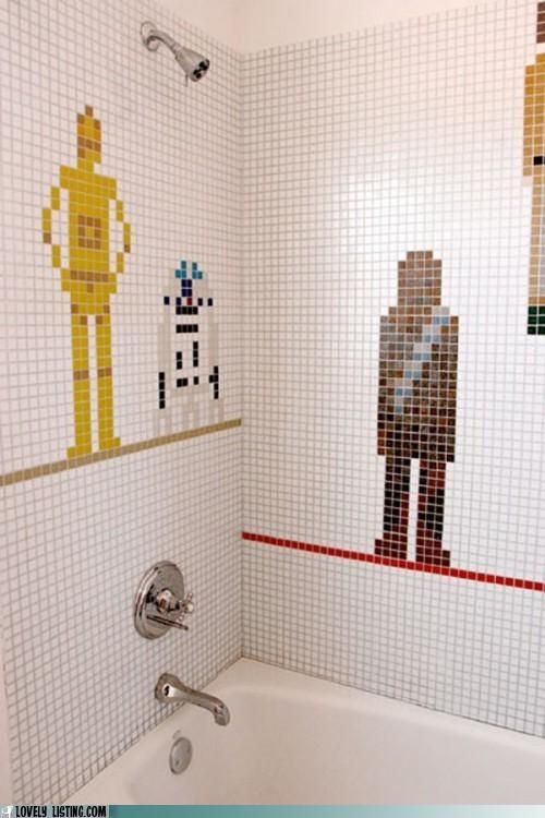 Star Wars shower. It's not exactly do-it-yourself, but how awesome is this?