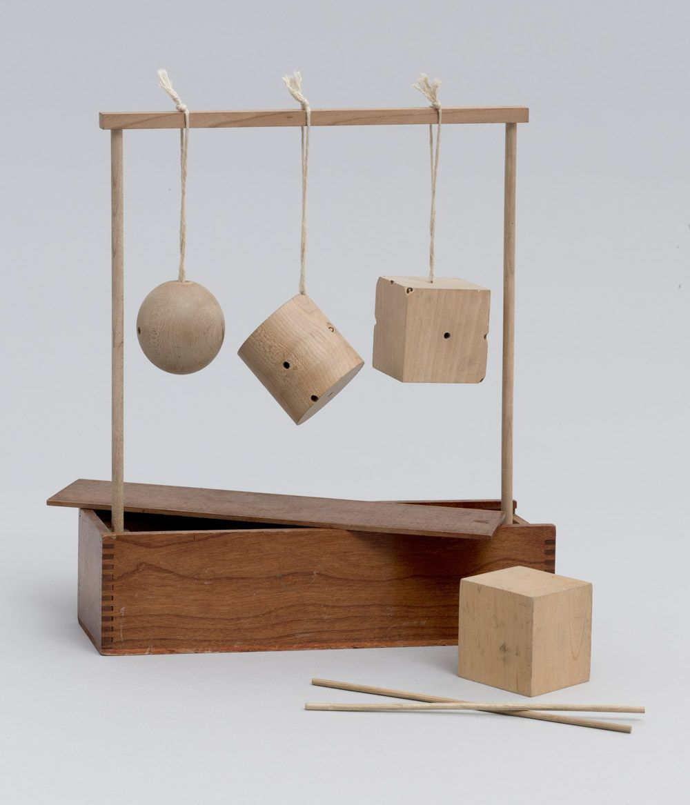 Cylinder And Cube C 1890 Wood And String Manufactured By  # Daquino Muebles