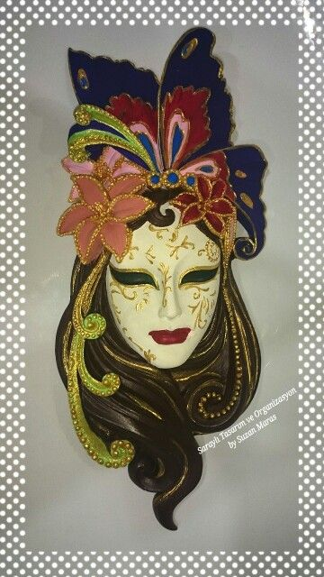 Maske El Boyama Cizimler Maskeler Yuzler