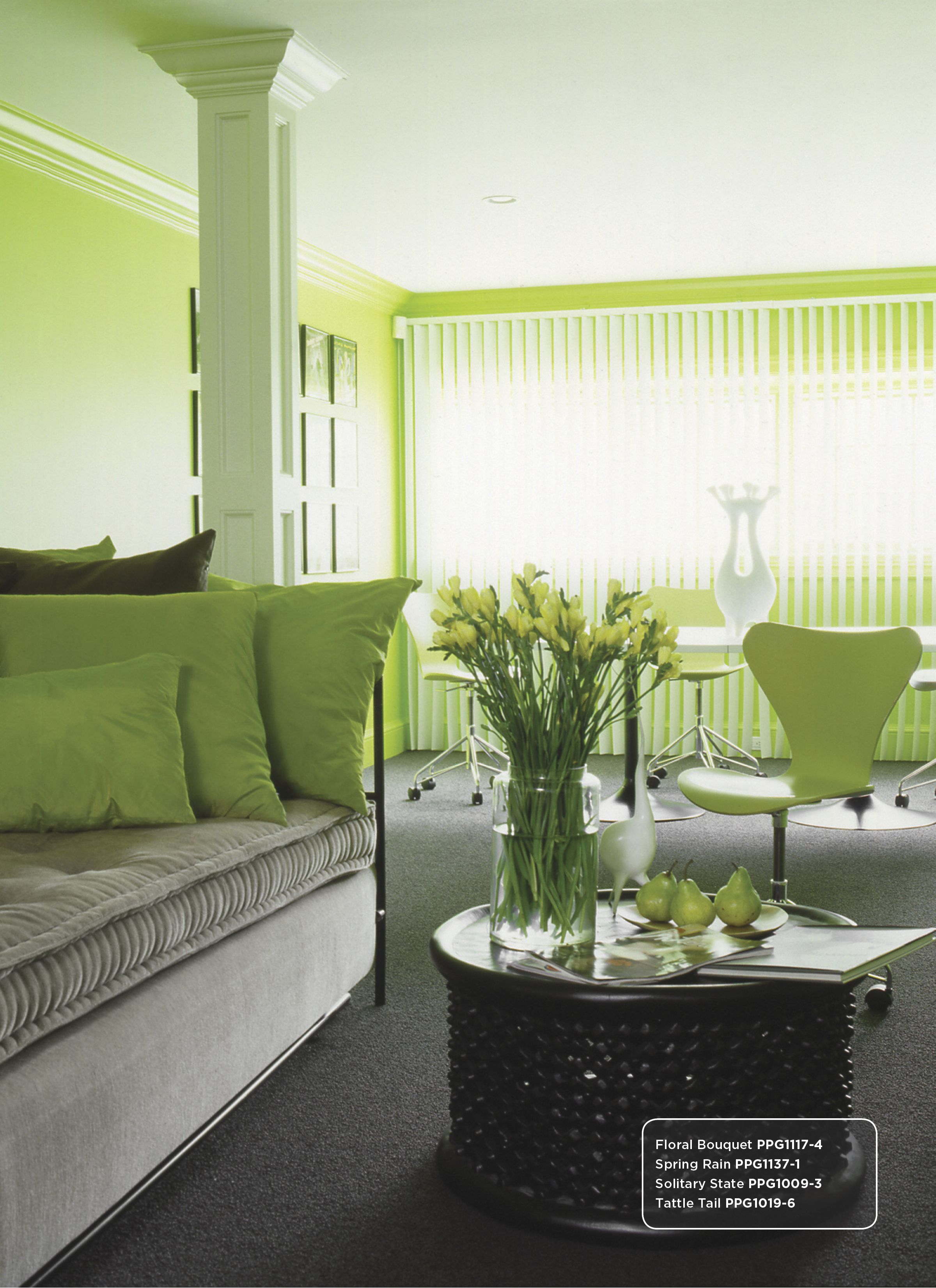 Light Green Paint For Living Room Green Wall Color Inspiration Includes Solitary State Ppg1009 3