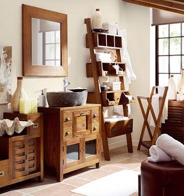 Me gusta el mueble tipo escalera con estantes y cajoneras - Estanteria escalera casa ...