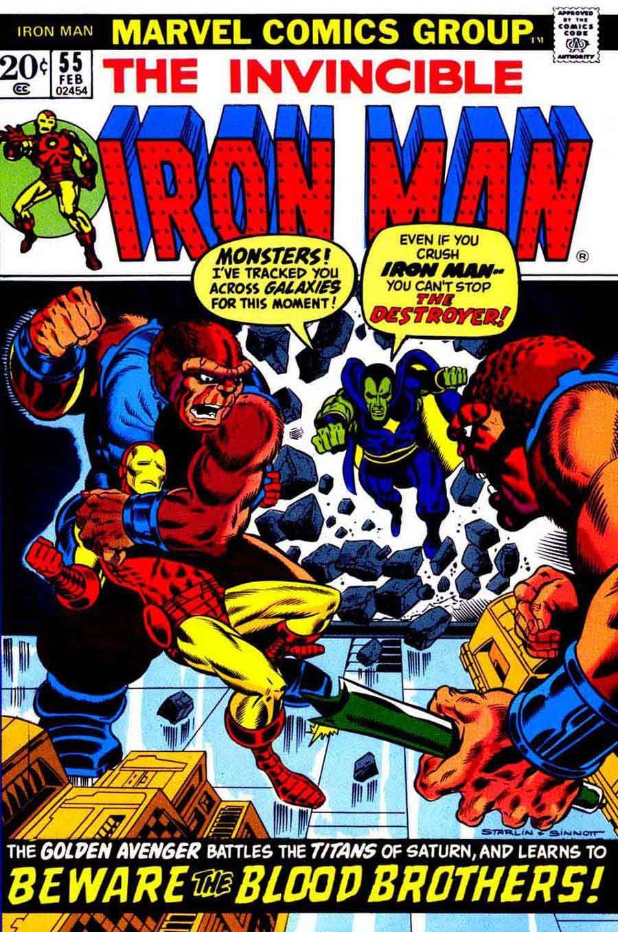 Iron Man 55 Jim Starlin art & cover First Thanos