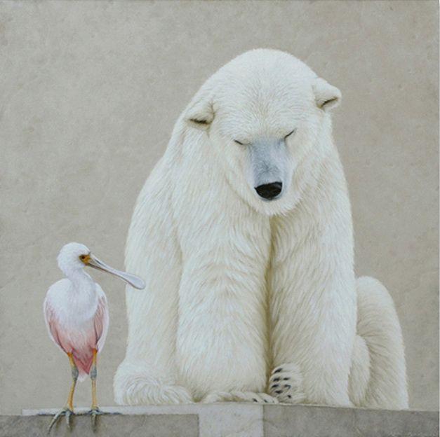 polar bear and spoonbill